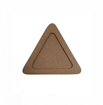 Wooden decoration frame Triangle oval 17 cm.