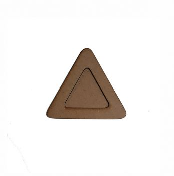 Wooden decoration frame Triangle oval 13 cm.