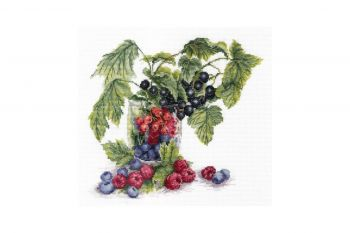 "Cross-stitch kit MP STUDIA SM-084  ""Fructe de padure"""
