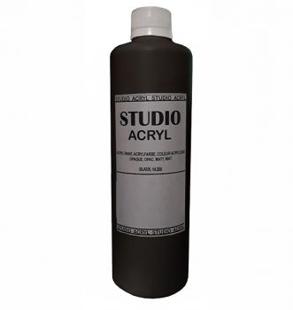 Acrilic paint STUDIO ACRYL 500 ml. Black