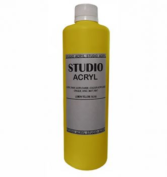 Acrilic paint STUDIO ACRYL 500 ml. Yellow