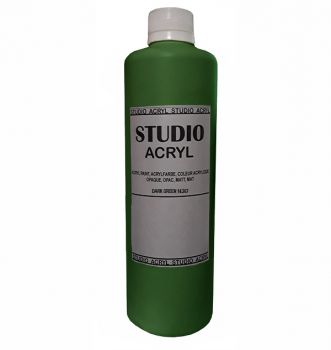 Acrilic paint STUDIO ACRYL 500 ml.  Green