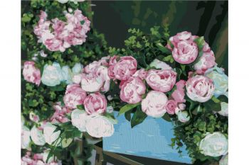 Paint by numbers Wizardi  T40500332  Flower Basket