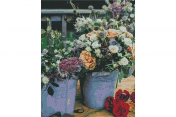 Paint by numbers Wizardi  T40500333  Rose Splendour