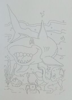 Canvas for drawing on a model Azuro Sea creatures