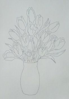 Canvas for drawing on a model Azuro Bouquet