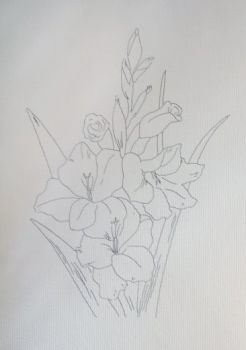 Canvas for drawing on a model Azuro Gladiolus