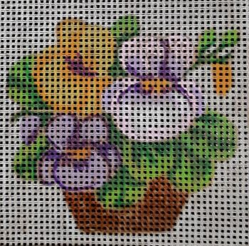 Printed embroidery Ravel 25101 Violets