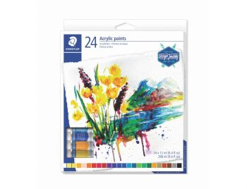 Acrylic paints drawing 12 colours