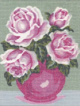 Printed embroidery Collection D'Art 3.239 Purple roses