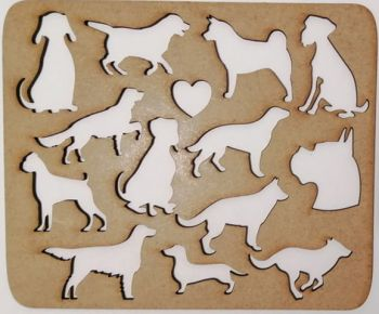 Wooden stencil Rabbits and Ducks