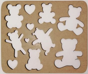 Wooden stencil Dogs