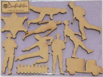 MDF decorative figures Soldiers