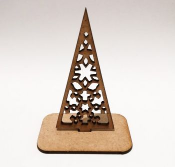 Wooden folding model Christmas tree