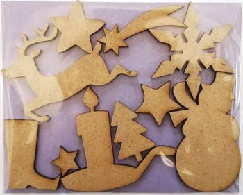 MDF decorative figures Christmas toys
