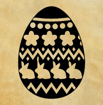 "Rubber stamp ""Easter egg"""
