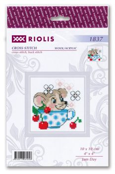 Cross-stitch kit Riolis 1902 Bear, Cones and DeerCalf with a Bell