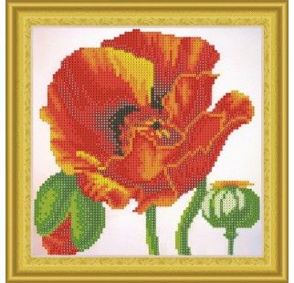 Mosaic with crystals RTO AX303011 Red poppy