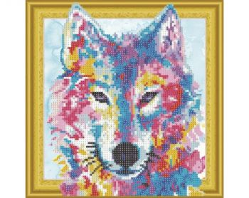 Mosaic with crystals RTO AX303017 Watercolor wolf