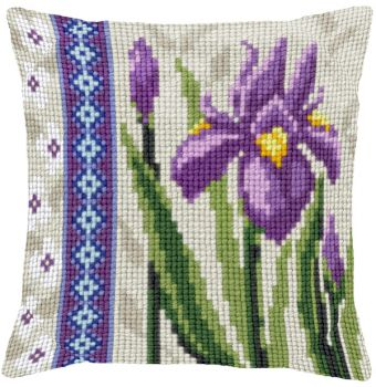 "Cross-stitch counted cushion Ravel 30239 ""Dutch Irises 2 - The Secret Garden"""