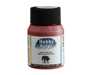 Nerchau acrilic paint - glossy middle brown