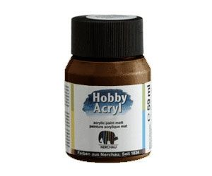 Nerchau acrilic paint - glossy dark brown