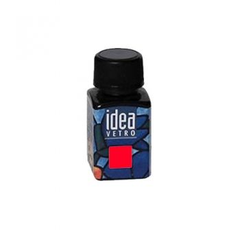 Idea Vetro glass paint Red