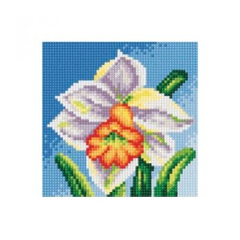 Printed embroidery Orchidea 2441 Daffodil