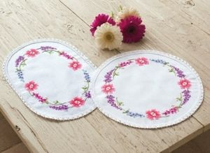 Vervaco PN-0012841 Round flower table-cloth
