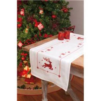 Vervaco PN-0013261 Rectangle with raindeer table-cloth