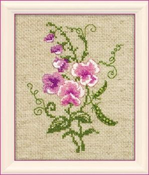Cross-stitch kit Riolis 1250 Garden Peas