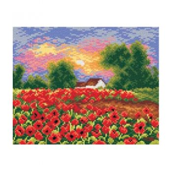Printed embroidery Orchidea 2182 Poppy field