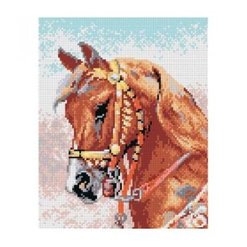 Printed embroidery Orchidea 2117 Gipsy horse