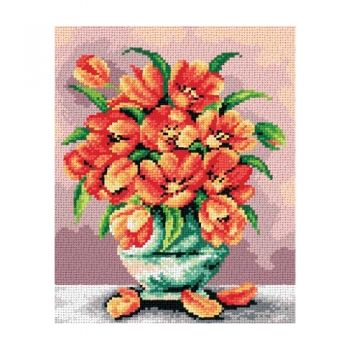 Printed embroidery Orchidea 2410 Tulips