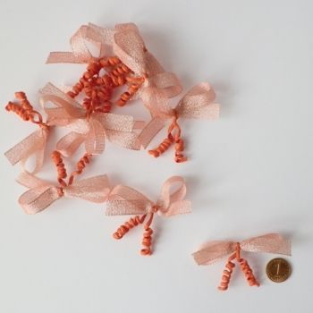 Light peach brocade ribbons