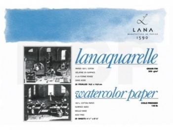 LANA Sketchbook Lanaquarelle GRAIN FIN - 23/31, 20 sheets