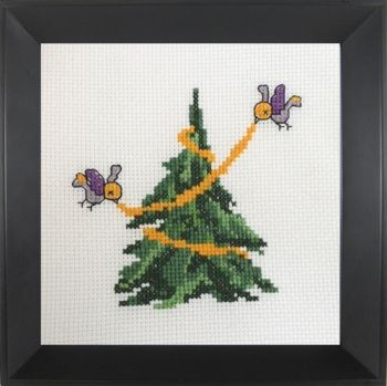 Cross-stitch Christmas tree