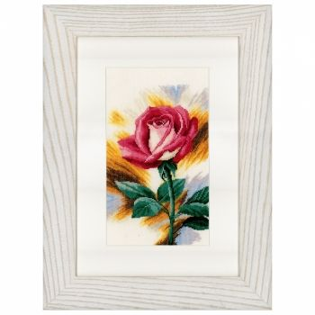 "Cross-stitch ""Shy rose"" - Lanarte PN-0148258, Flowers and gardens"