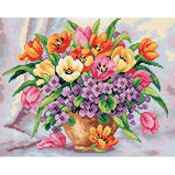 Tulips and primroses