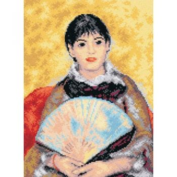 The girl with the fan - Renoir