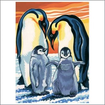 Drawing acrilic kit - Pinguin family