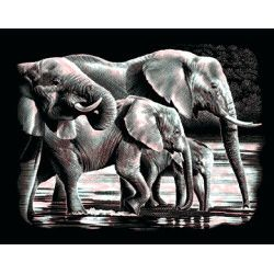 Copper gravure kit - elephants