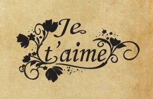 "Rubber stamp ""Je t'aime"" FR"