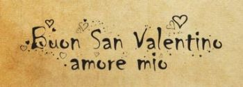 "Rubber stamp ""Buon San Valentino amore mio"" IT"